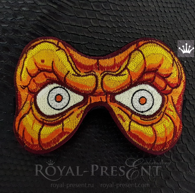Halloween Sleep Mask Machine Embroidery Design - 3 sizes RPE-1467