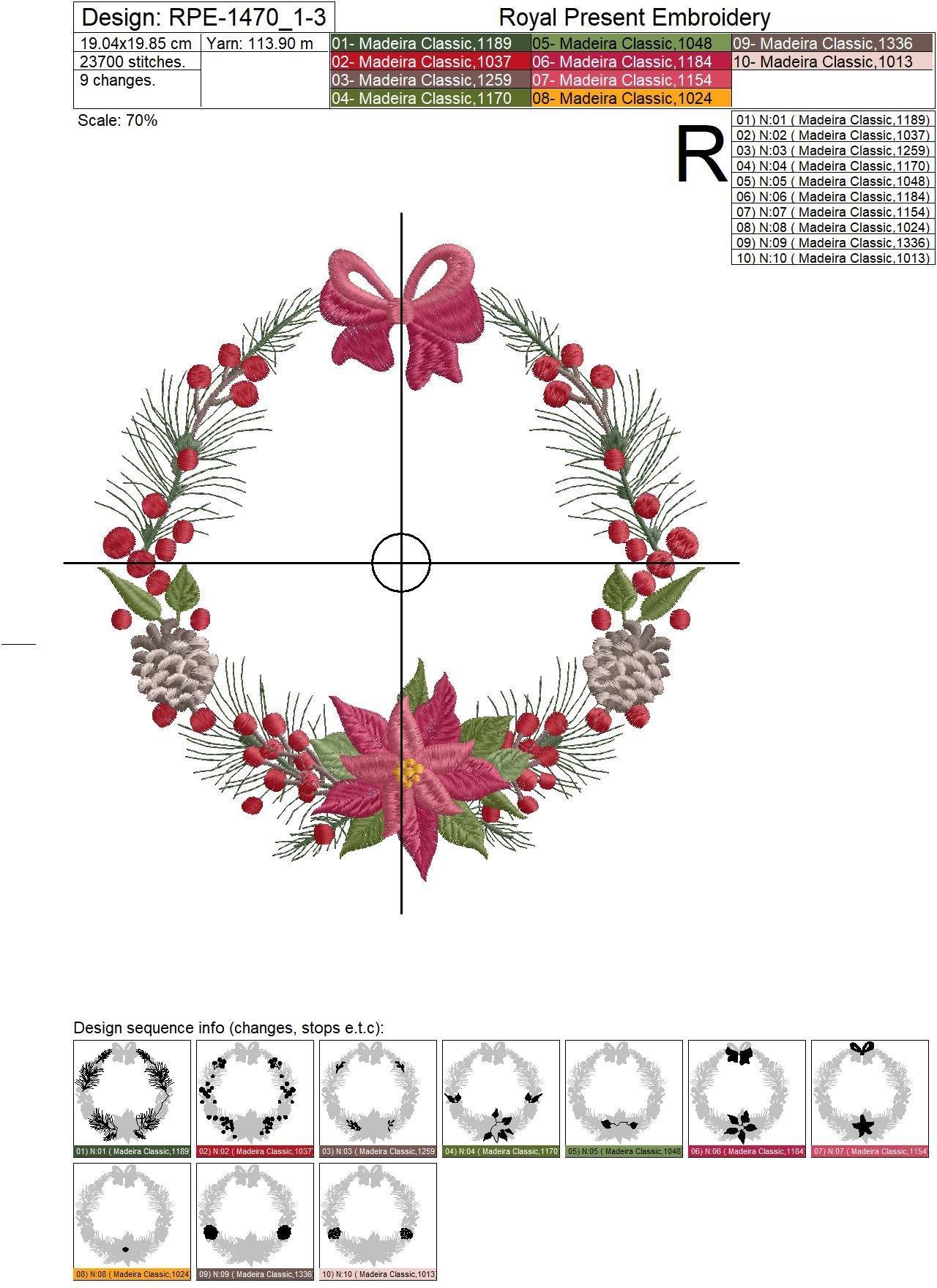 Christmas Festive Machine Embroidery Designs