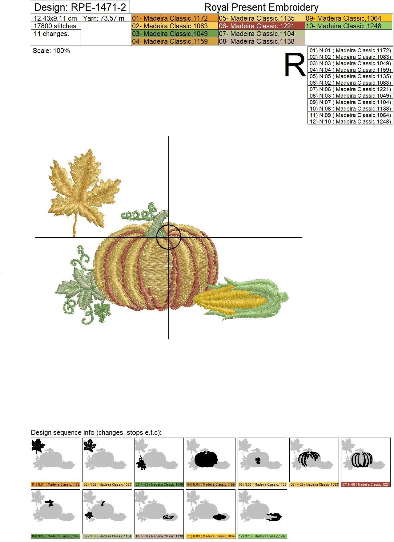 Happy Thanksgiving Machine Embroidery Designs - 5 in 1