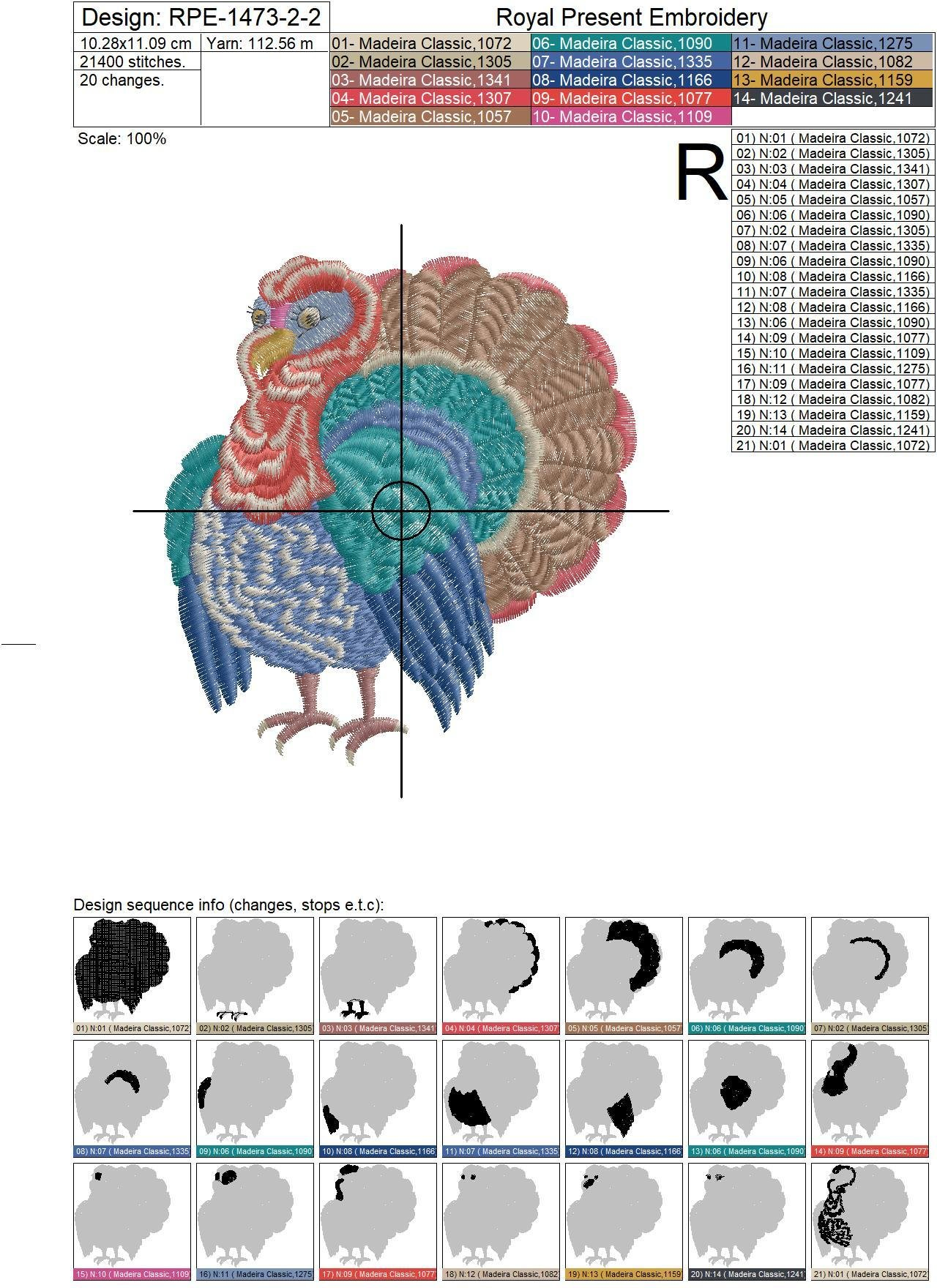 Happy Thanksgiving Machine Embroidery Designs Pack - 7 in 1
