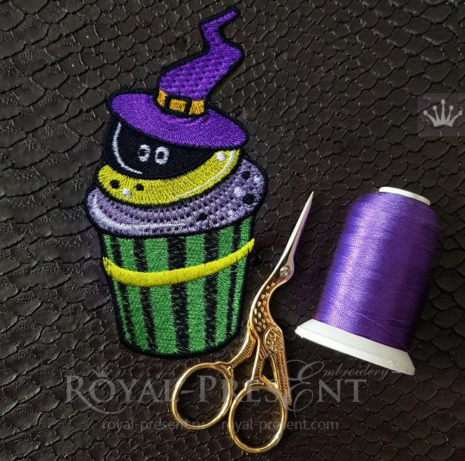 Halloween Cupcake Machine Embroidery Design - 3 sizes RPE-1489-4