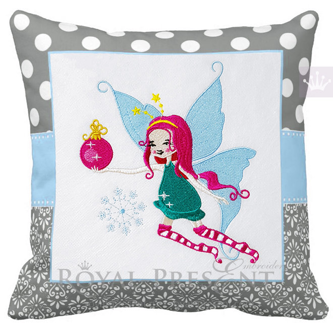 Winter Fairy Machine Embroidery Design - 4 sizes RPE-1492