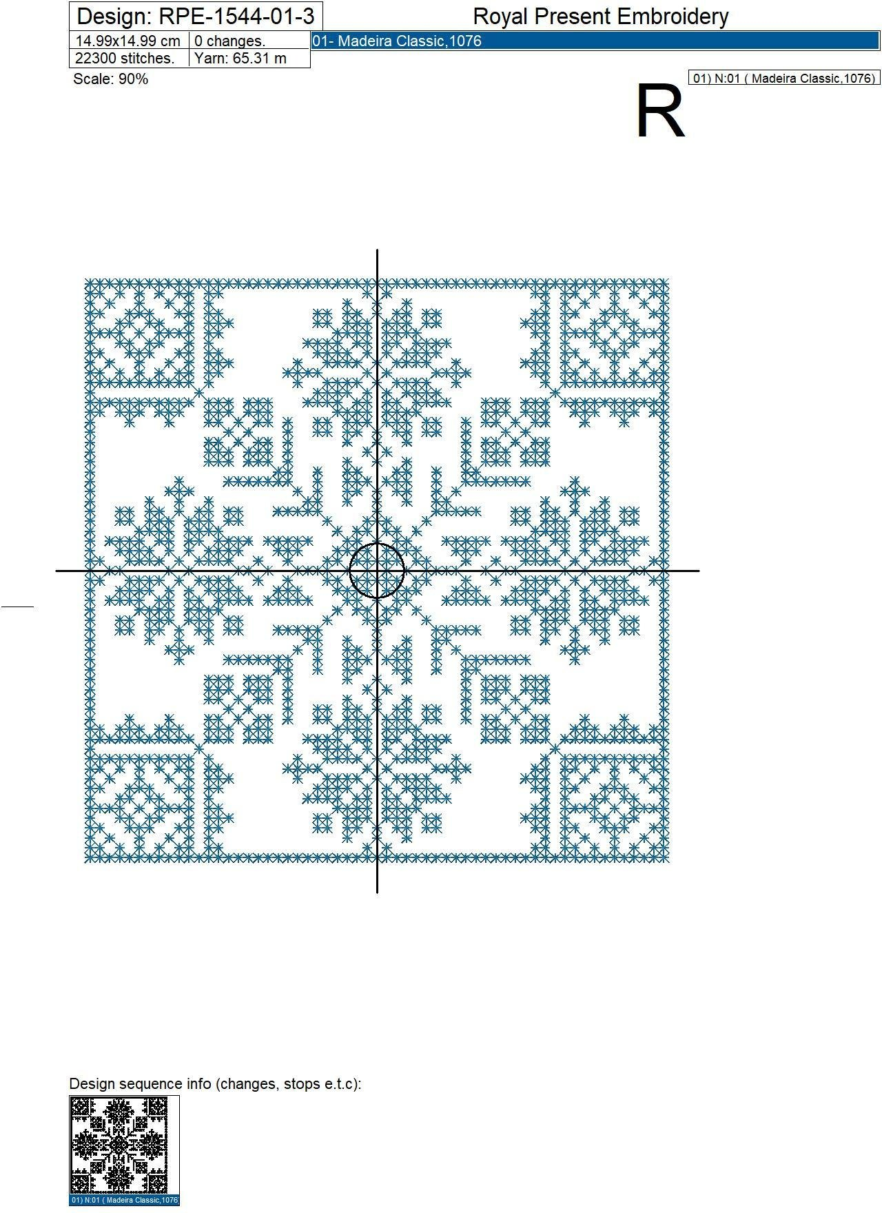 Norwegian Ornaments Cross-stitch Embroidery Designs - 4 sizes