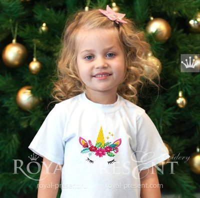 Christmas Unicorn Embroidery Design - 5 sizes