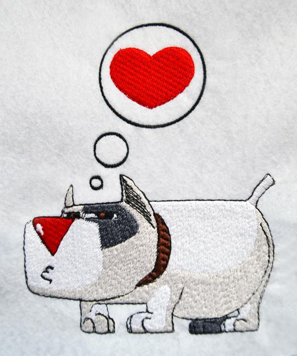 8 Bulldog File Embroidery Digitized Stitches Design Machine edit program