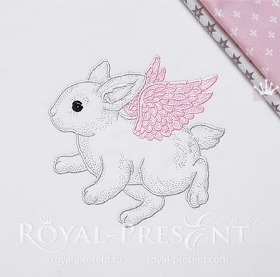 Angel Bunny Embroidery Design - 4 sizes
