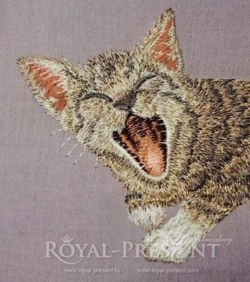 Machine Embroidery Design Pocket Cat