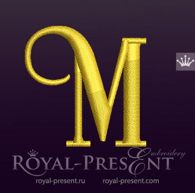Capital Letter M Embroidery design V4 RPE-1673-M4
