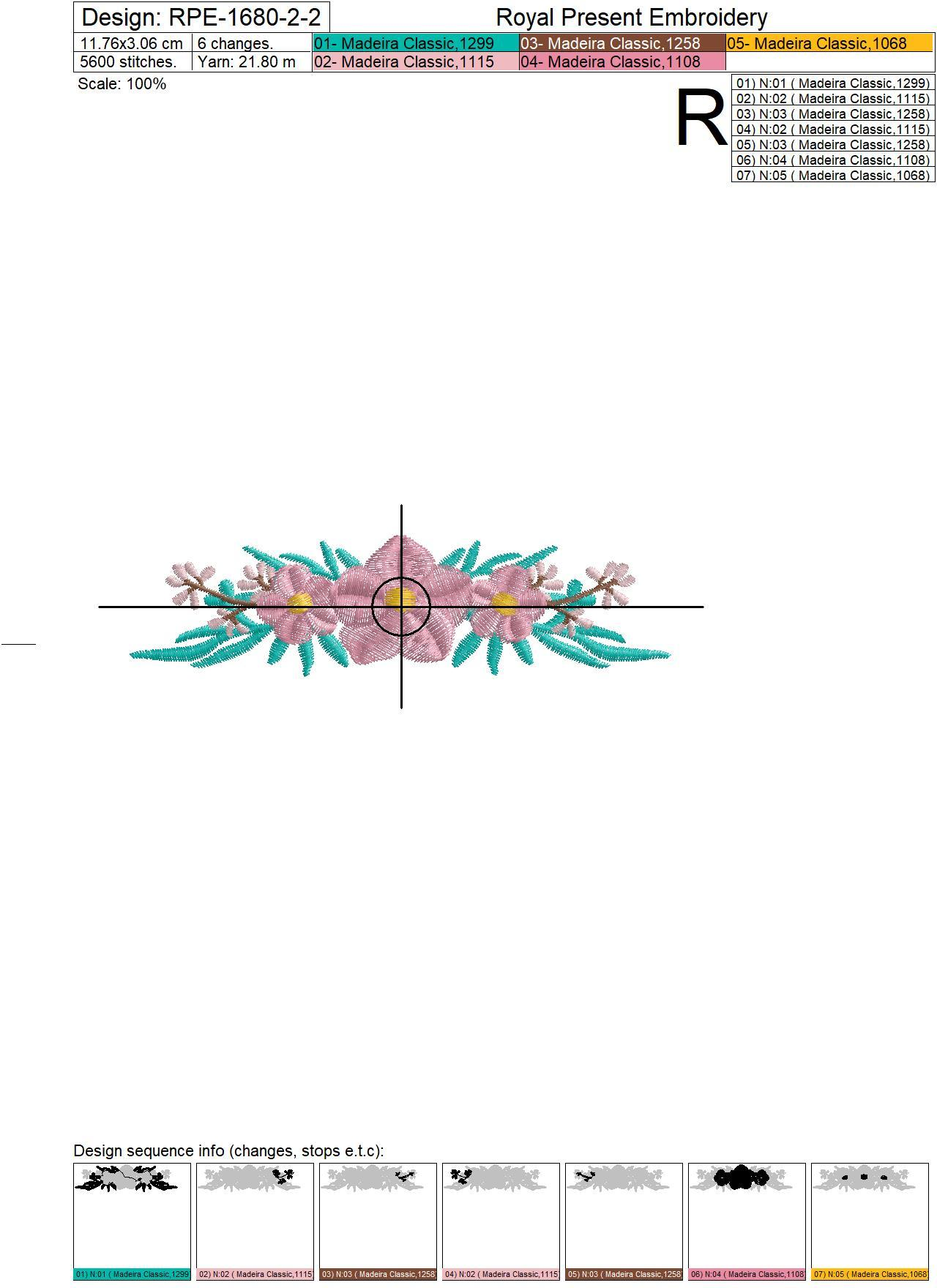 Mini Floral Borders Machine Embroidery Designs - 3 sizes