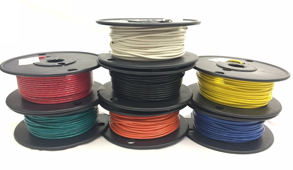 PVC Hook-up Wire | 20awg | stranded | 100ft spool