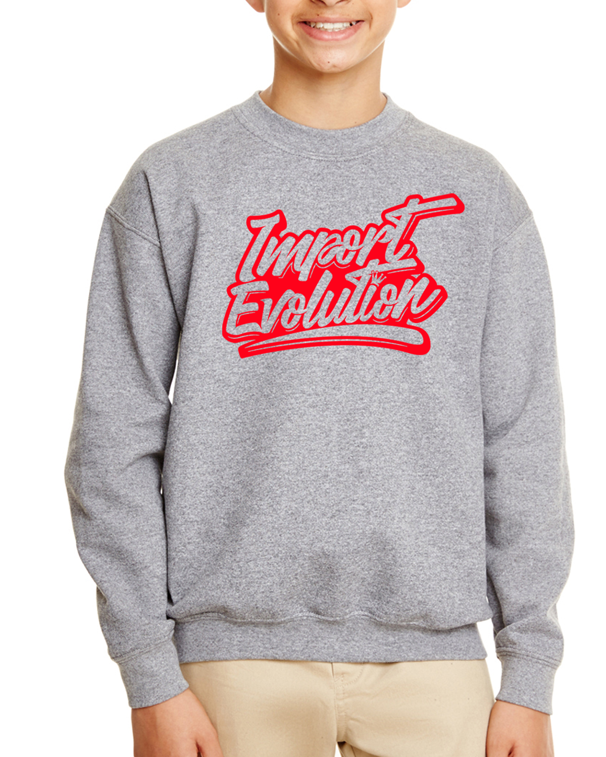 Youth Heavy Blend™ 8 oz., 50/50 Fleece Crew 0004