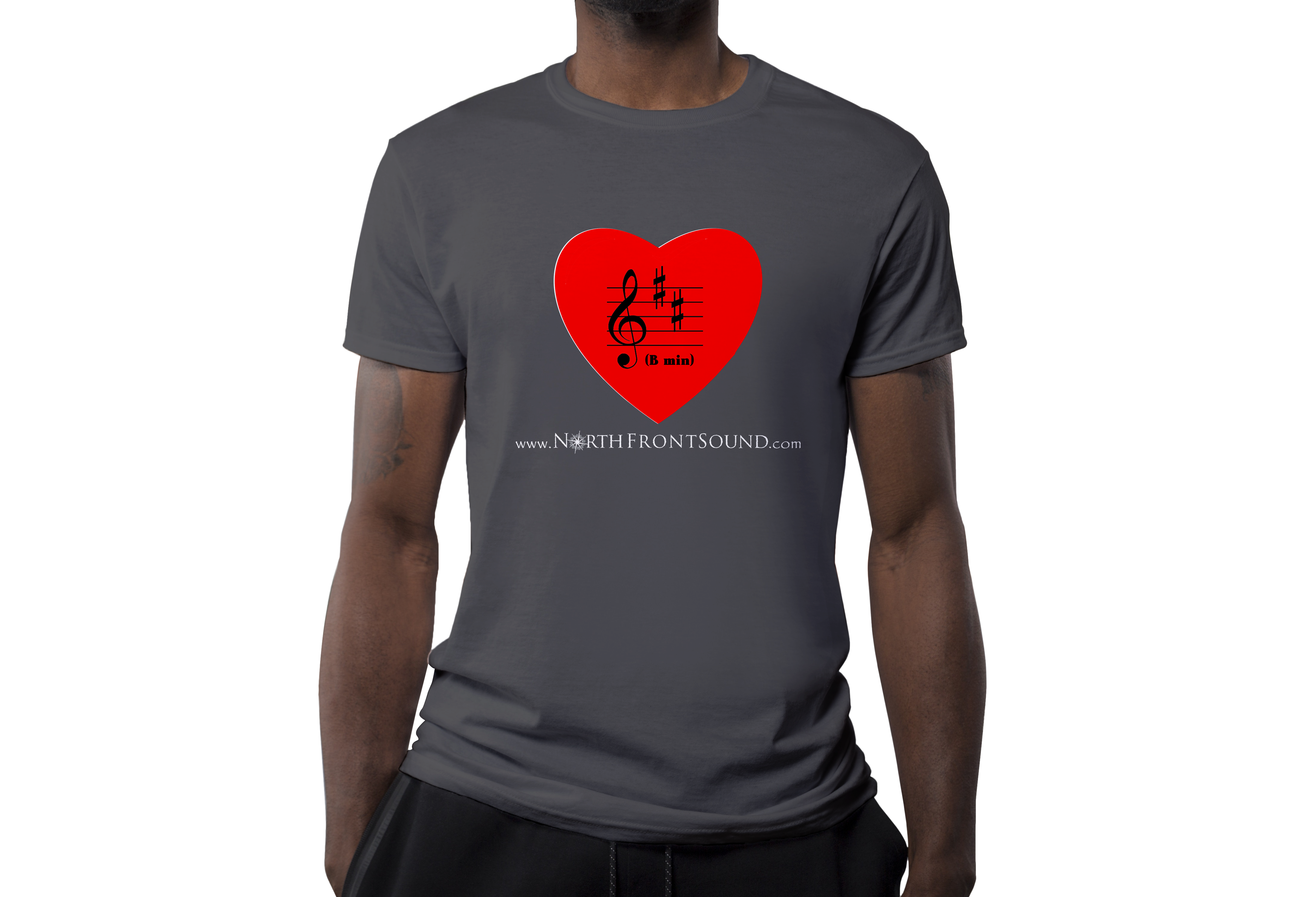 "Men's ""B Min(or)"" T-Shirt - Dark Gray T03MDGBMIN"