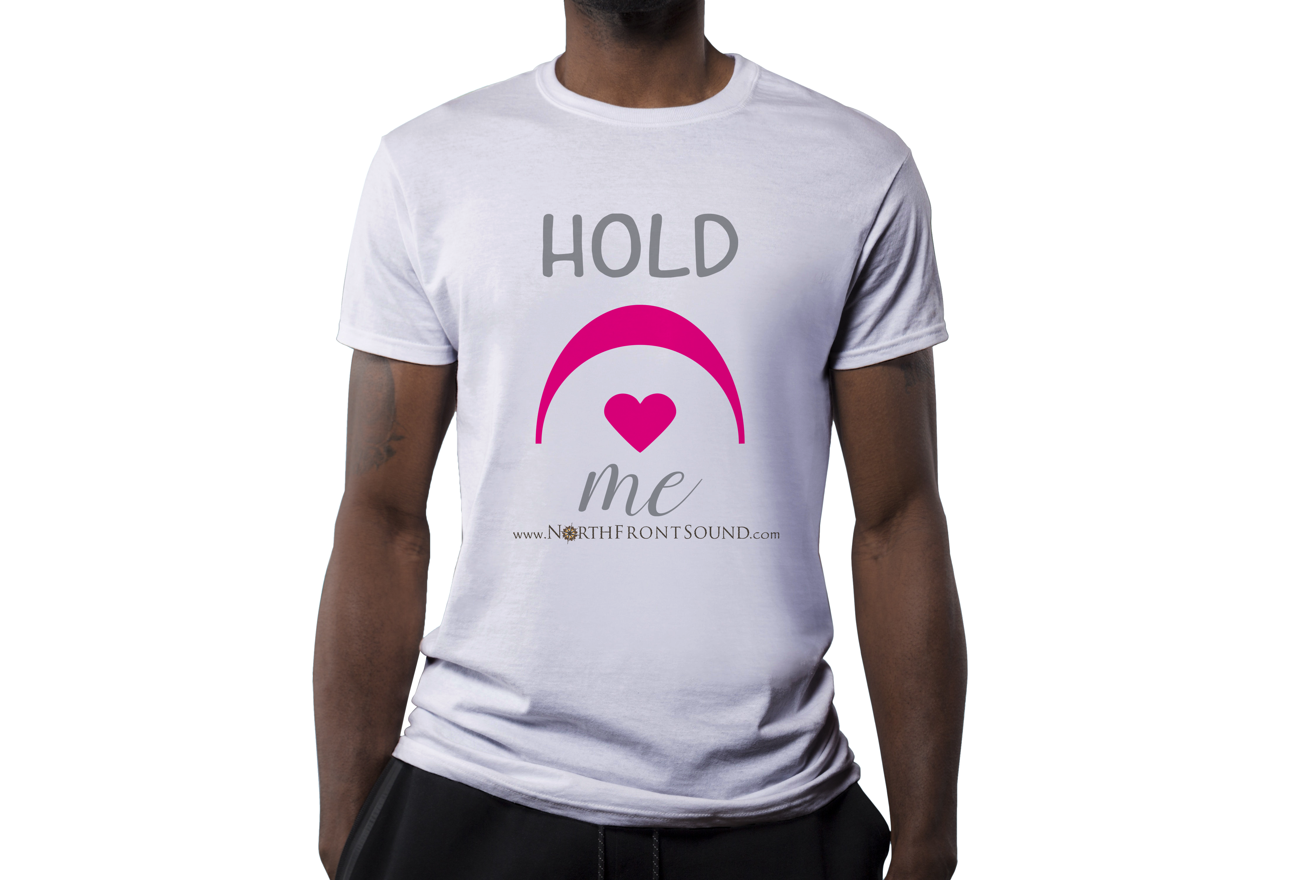 "Men's ""Hold Me"" T-Shirt - White T04MWHHLDME"