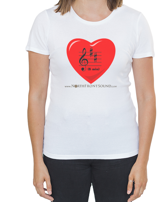 "Women's ""B Min(or)"" T-Shirt - White T01WWHBMIN"