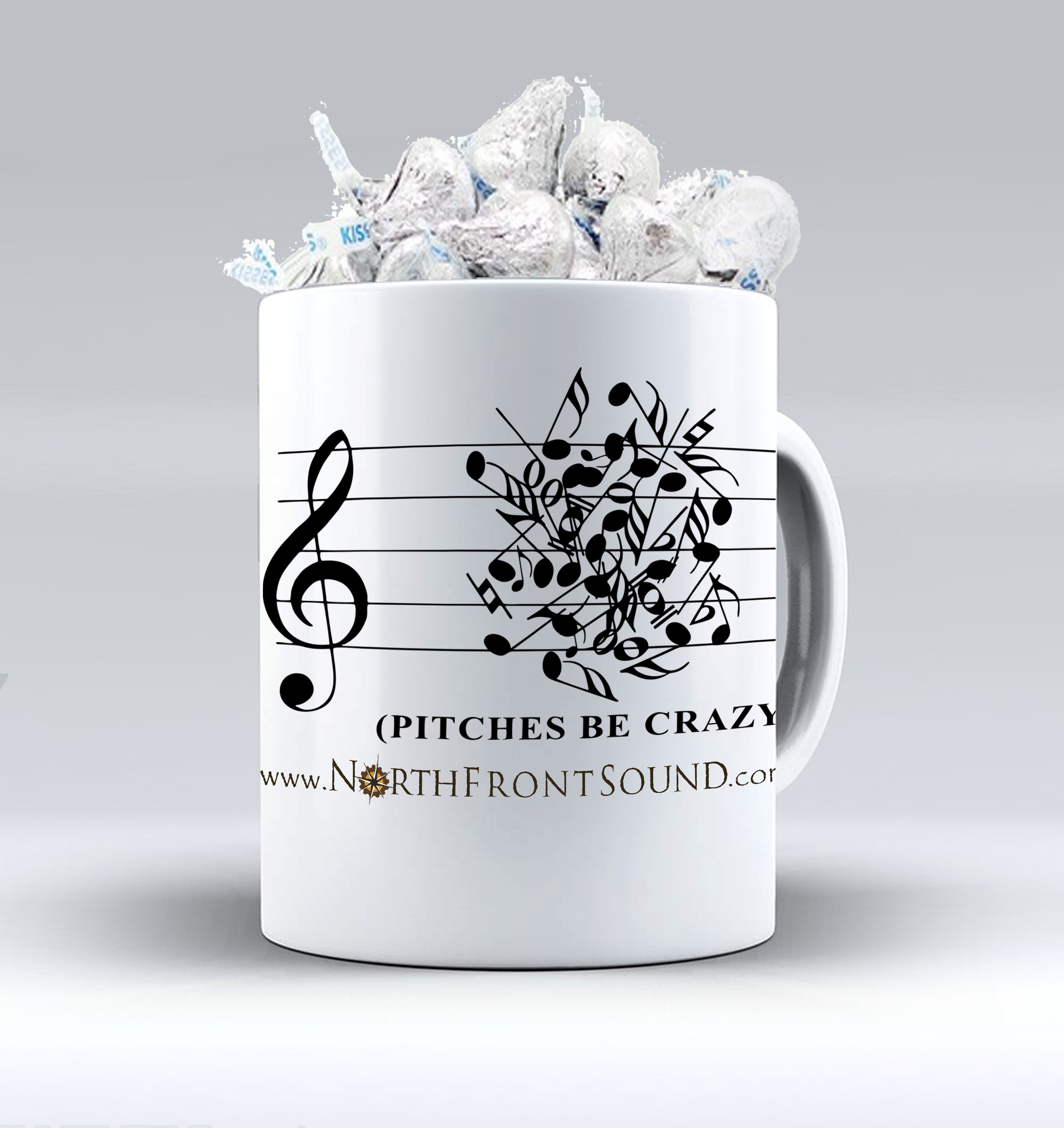 "Mugs & Kisses ""Pitches Be Crazy"" M02PBC"
