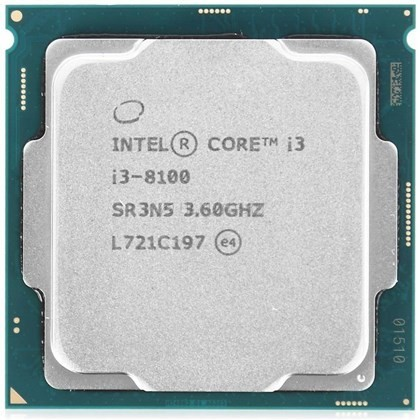 INTEL CORE i3 8100 3.6GHZ 6MB 4 CORES TRAY