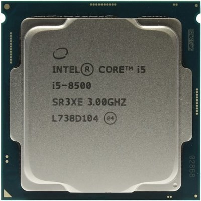 INTEL CORE i5 8500 3.0GHZ 9MB 6 CORES TRAY