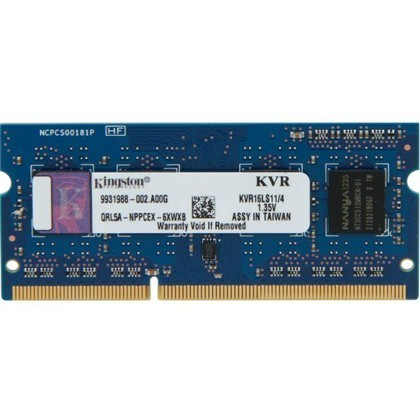 SODIMM DDR3 4GB 1600MHZ 1.35V KINGSTON