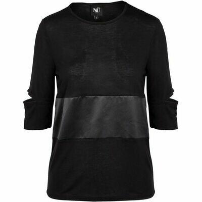 Elegant svart bluse