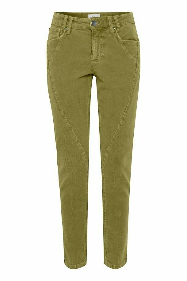 Rosita Skinny Bukse-Crocodile Green