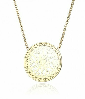 KARMA LARGE SHORT NECKLACE GOLD
