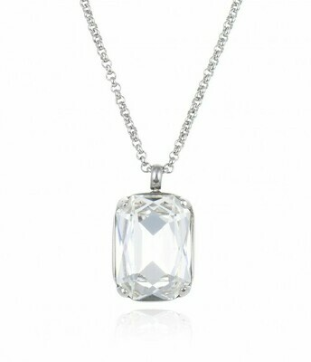 CELIA SHORT NECKLACE CLEAR/STEEL