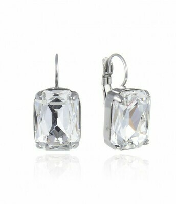 CELIA EARRING CLEAR/STEEL