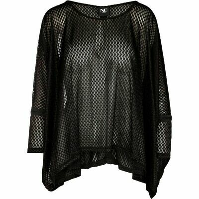 ANILA mønstret bluse-Sort