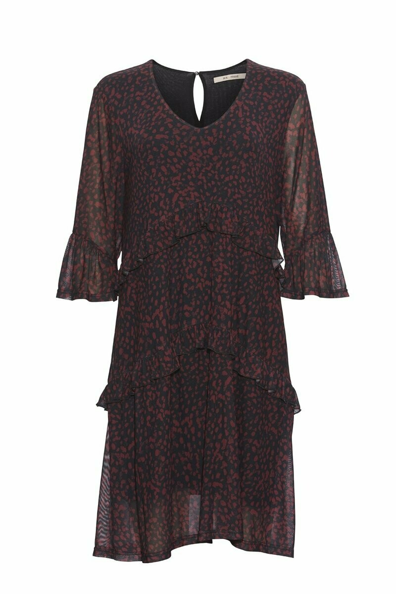 Lulu Dress-Dyp rød/sort