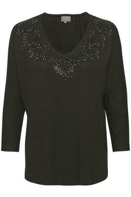 Evalotte Blouse-Black