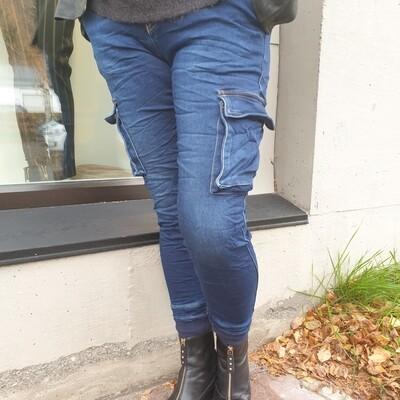 Tundra cargo  jeans-Indigo