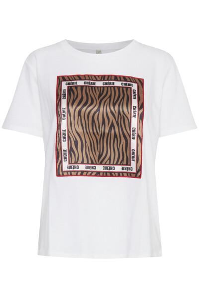 Zebra T-shirt-Optical White