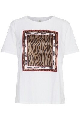 Zebra T-shirt-Optical White