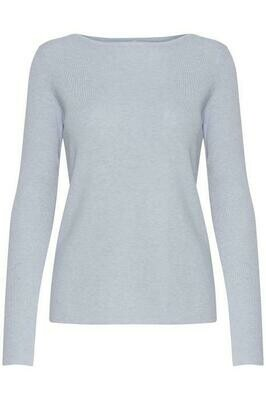 Sara Boatneck Pullover-Kentucky Blue