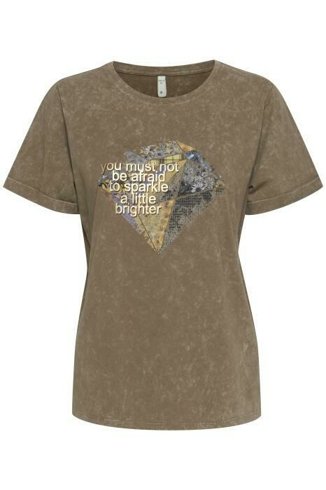Dina T-shirt-Stone Gray