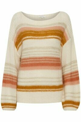 Afrodite Pullover-Mix stripe Rose