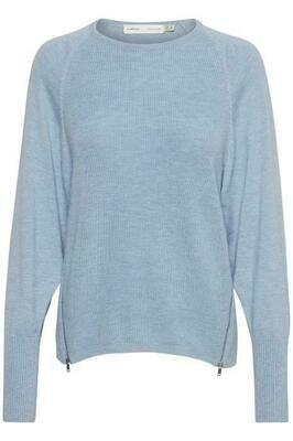 Emal Zipper Pullover-Blue Serenity