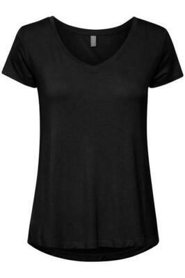 Poppy V-neck- Black