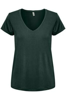 Poppy V-neck-Pine Grove
