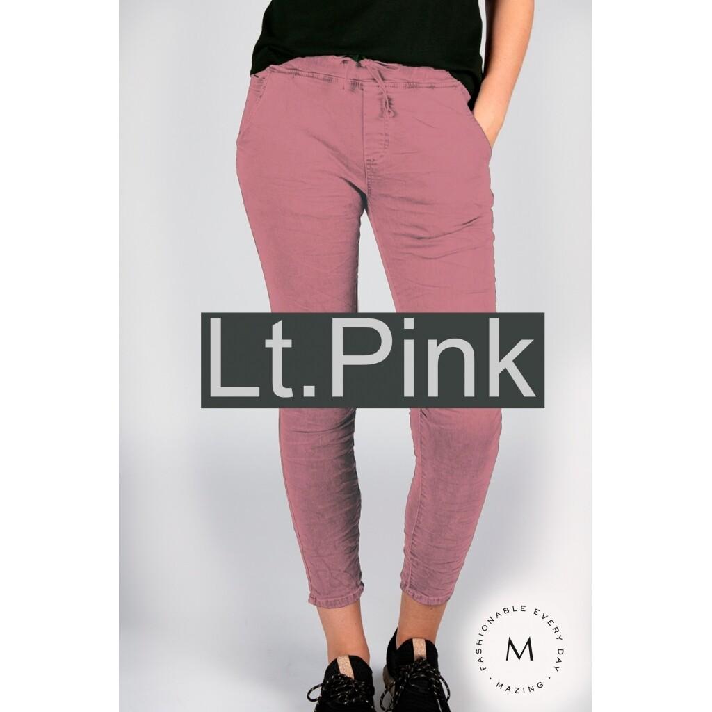 TUNDRA col.denim trousers LIGHT PINK