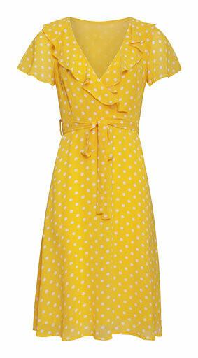 Smashed Lemon Kjole-Yellow White