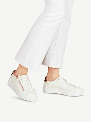 Sneakers-White/rose gold