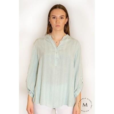 LETTIE bluse-Mint grønn