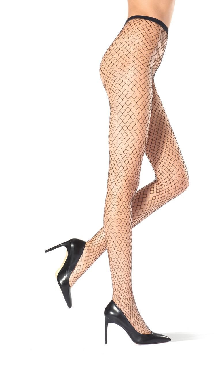 Carry fishnet tights Black