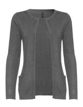 Sara l/s cardigan medium grey melange