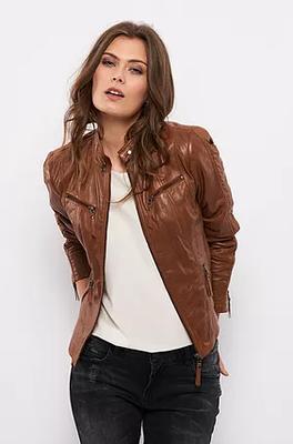 Biker jacket cognac
