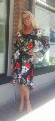 Flowy flower kjole