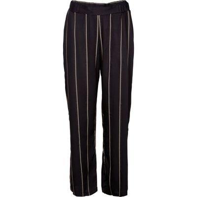 Stripete bukse black