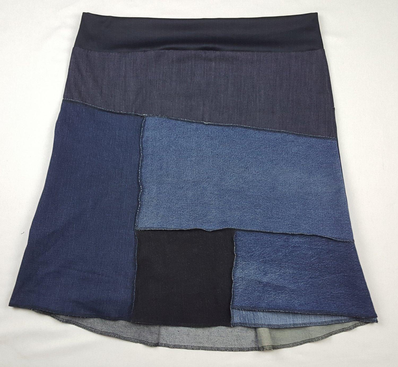 Hip Chick Design Up-Cycled A Line Denim Skirt