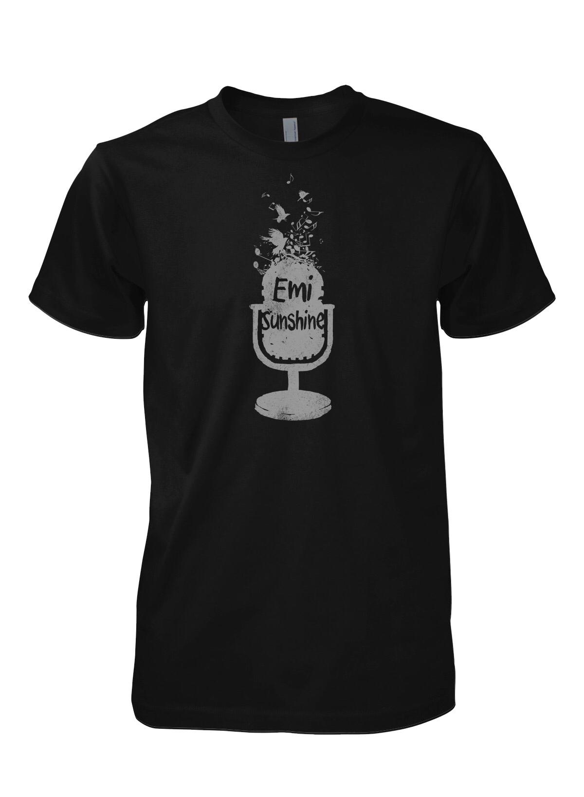 Grey Microphone Shirt  00158
